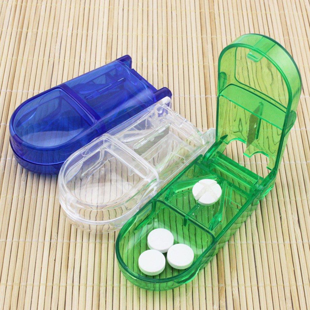 Pill Cutter Box Portable Convenient Drug Box Tablet Cutter Splitter Medicine Pill Holder Pill Cutter Box