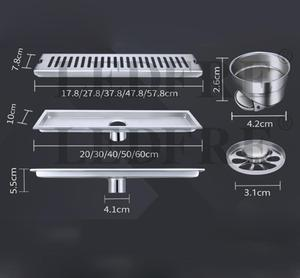 Image 2 - LEDFRE Shower Drain 304 Stainless Steel Shower Floor Long Linear Drainage Channel Drain for Hotel Bathroom Kitchen Frool LF66009
