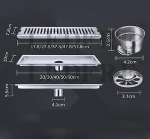 Image 2 - LEDFRE duş drenaj 304 paslanmaz çelik duş zemin uzun lineer drenaj drenaj kanalı için otel banyo mutfak Frool LF66009