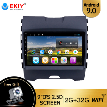 EKIY 9'' IPS Auto Multimedia Stereo Player for Ford Edge ranger 2015-2018 with Canbus Android 9.0 GPS Navi 2Din No 2 Din Video image