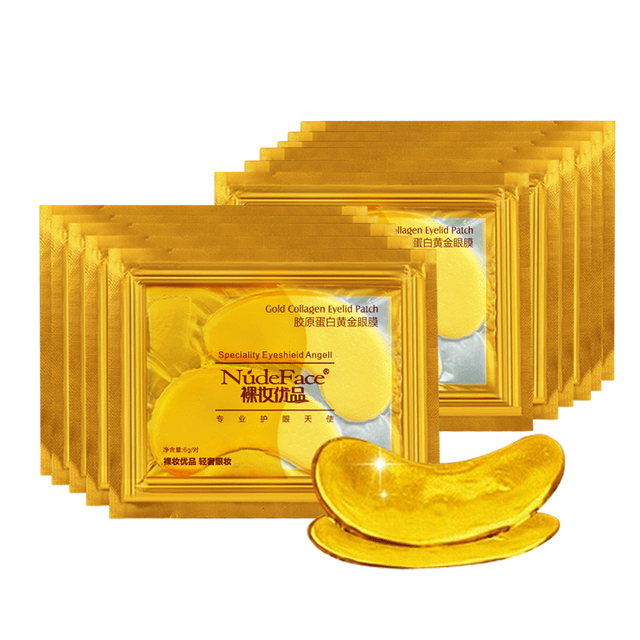 cosmetics collagen eye patches Mask skin care 24k Gold Crystal Eye Patch Colageno Gel Eye Pads eye patches mask 4