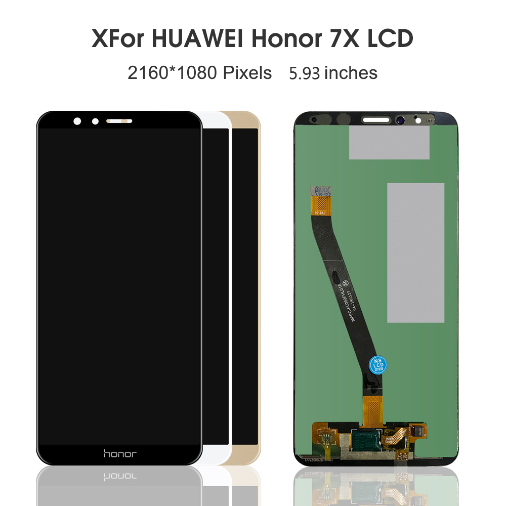 5.93'' Display For HUAWEI Honor 7X LCD Display Touch Screen Digitizer With Frame For Huawei Honor 7X LCD Replacement Parts