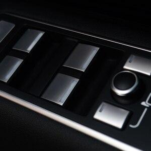 Image 3 - 레인지 로버 용 랜드 로버 디스커버리 5 용 10pcs 차량 도어 암 레스트 윈도우 리프트 버튼 커버 트림 RR 스포츠 14 17 용 VELAR 17 19