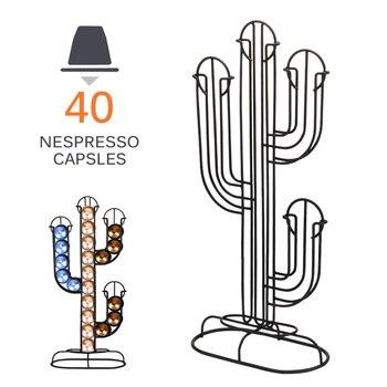 חדש מתכת קפה בעל תרמילי ציפוי ברזל Stand קפה כמוסת אחסון מתלה דולצ ה גוסטו כמוסה זרוק חינם