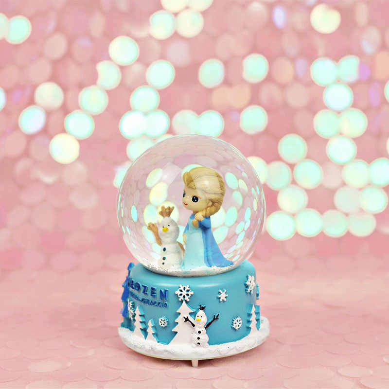 Strongwell น่ารักน่ารัก Snowman Snow Globe คริสตัลคริสต์มาสเพลงกล่องตกแต่งคริสต์มาสสำหรับตกแต่งบ้านวันเกิดของขวัญ