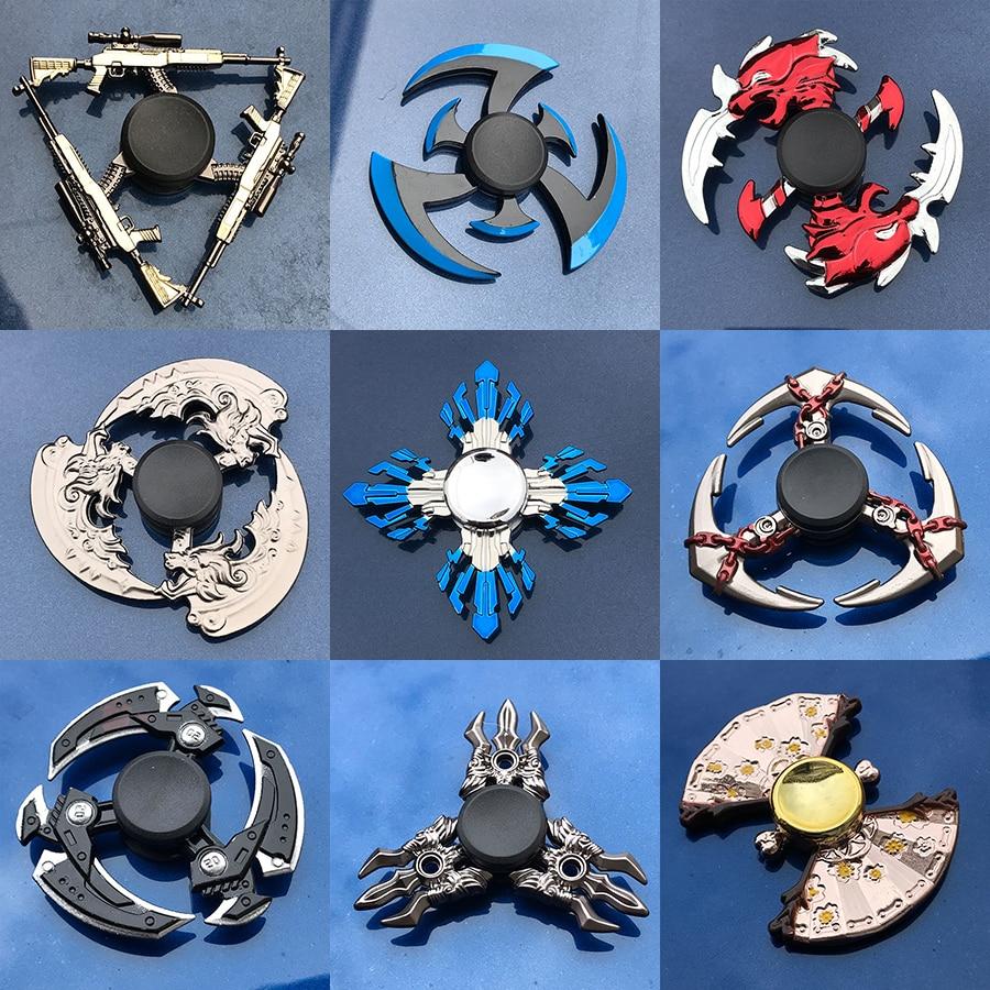 Fidget Spinner Electroplate Finger-Focus Metal Toy Tri Smooth for Kids Gift Hybrid-Bearing-Toys img1