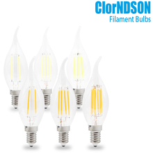 цена на Dimmable 2W 4W 6W 8W Led Candle E14/E12 Vintage Retro Dimming Candle Filament Bulbs Lamp For 110V 220V Chandelier Lighting