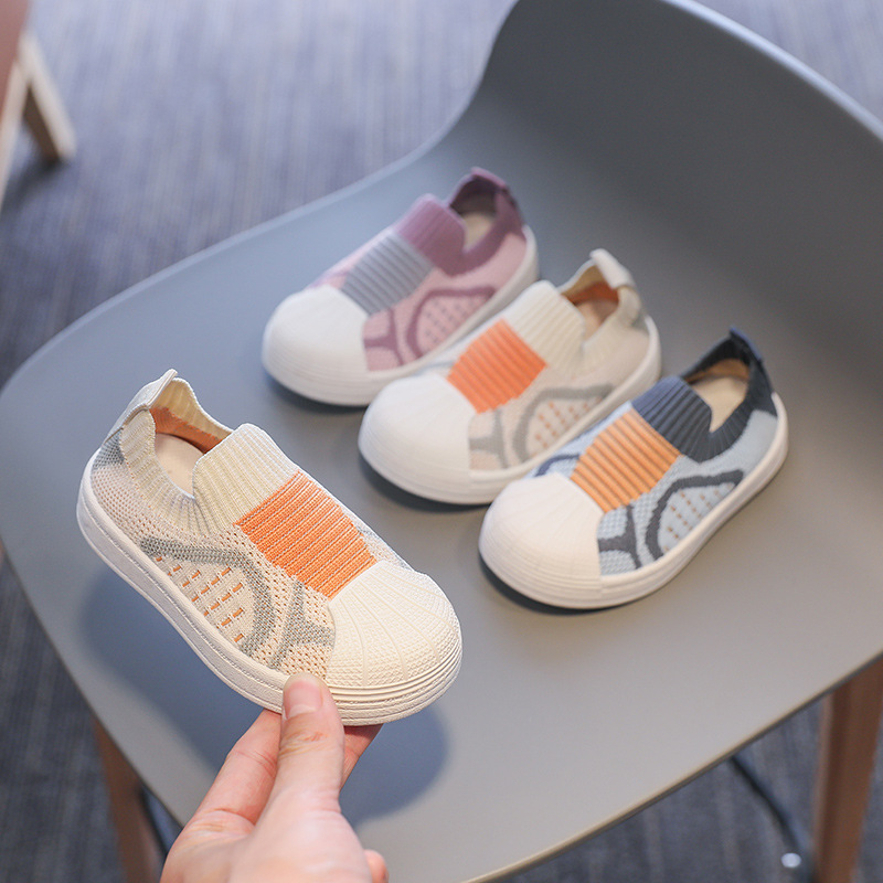 Infant Toddler Shoes 2021 Spring Girl Boy Casual Shoes Comfortable Baby Kids Shoes Non-slip Soft Bottom Stitching Color Sneakers