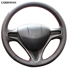 Black Artificial Leather Car Steering Wheel Cover for Honda Civic Old Civic 2006 2011