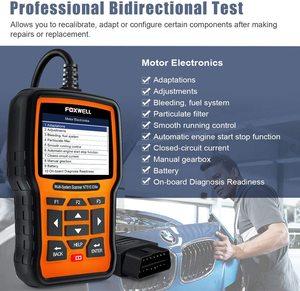 Image 3 - FOXWELL NT510 Elite Full System OBD2 Scanner SAS SRS DPF Multi Reset Bi Directional Active Test Code Reader Car Diagnostic Tool