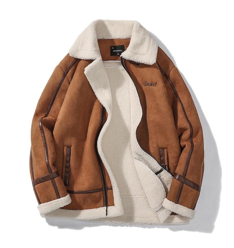H0c88c41e23c248fbae99b5cb7b08bbeai Men Autumn Casual Warm Fleece Military Leather Jackets Parkas Men Winter Windproof Waterproof Outwear Parka Coat Jackets Men