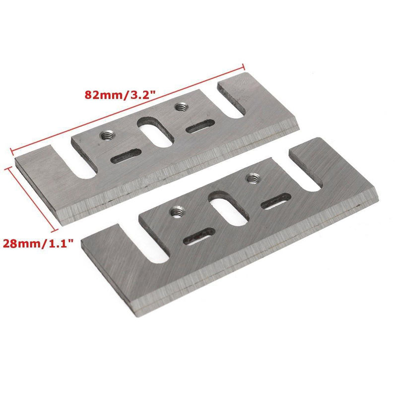 2PC Electric HSS Planer Spare Blades 82mm 3.2 DIY Tool Parts For Makita 1900B