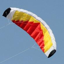 New High Quality 2m Nylon Dual Line Parafoil Kite With Handle And Line Power Braid Sailing Kitesurf Rainbow Sports Beach
