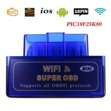 Elm 327 Obd2 skaner Elm327 V1.5 Wifi OBD 2 skaner diagnostyczny dla samochodów z systemem iOS OBDII ELM 327 v 1.5 czytnik kodów narzędzia diagnostyczne