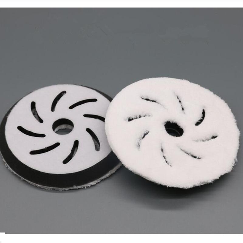 5 Inch Wheels Waxing Coating Plated Crystal Polishing Disc Polishing Pad Wax Fast Pneumatic Waxing Tray     Car Wash Maintenance