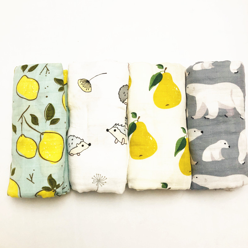 Inch 47inch 70% Bamboo+ 30% Cotton Baby Swaddle Wraps Cotton Baby Muslin Blankets Newborn 100% Bamboo Muslin Quilt