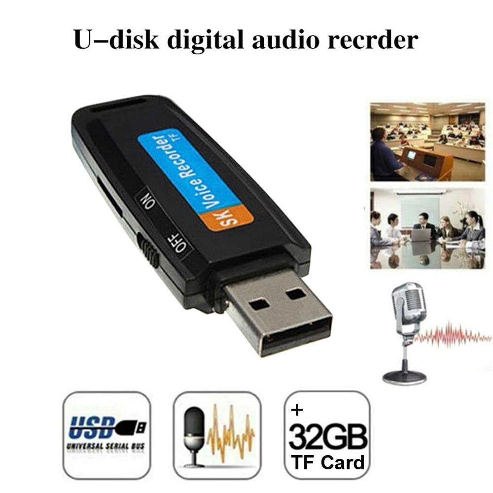 U-Disk Digital Audio Voice Recorder Pen USB Flash Drive Recorder USB 2.0 Sound Recording
