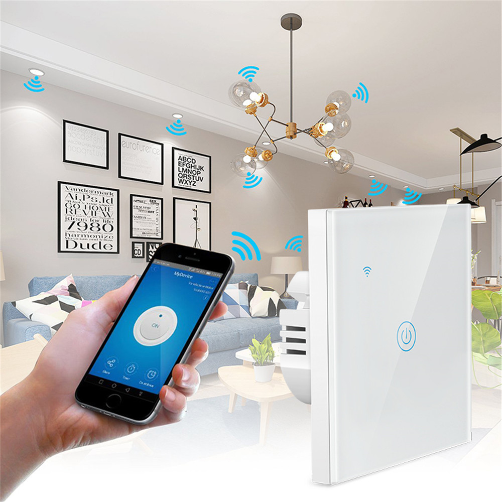 Image 5 - 1/2/3 Gang 1 Way Tuya WiFi Smart Switch Wall Light Switch WiFi Single live line for application without neutral wireSwitches   -