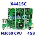 X441SC материнская плата 4 ГБ ОЗУ N3060CPU для ASUS X441 X441S X441SC Материнская плата ноутбука X441SC материнская плата Тест 100%