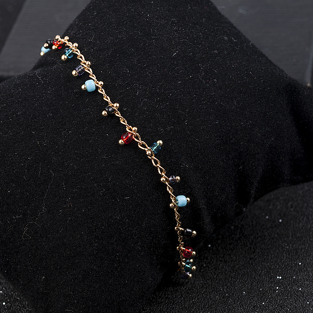 Simple Colorful Beads Anklets for Women Foot Accessories Summer Beach Barefoot Sandals Bracelet ankle on the leg Female Ankle 2