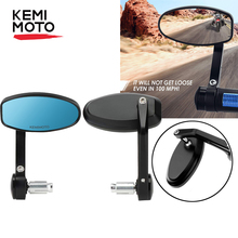 Motorcycle Bar End Mirrors Universal Rearview Mirror Motorcycle Side Mirrors 7/8 22mm For MT09 MT07 For R1200GS F800GS R 1250 RT