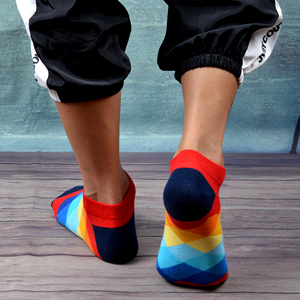 Image 4 - SANZETTI 12 Pairs/Lot Mens Casual Summer Ankle Socks Colorful Happy Funny Combed Cotton Short Socks Wedding Party Dress Socks