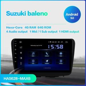 """Image 2 - Dasaita autoradio Android 9.0, IPS 9 """", Navigation GPS, Bluetooth, vidéo 2016 p, TDA850, 1 Din, stéréo, pour voiture Suzuki baleno (2017, 2018, 1080)"""