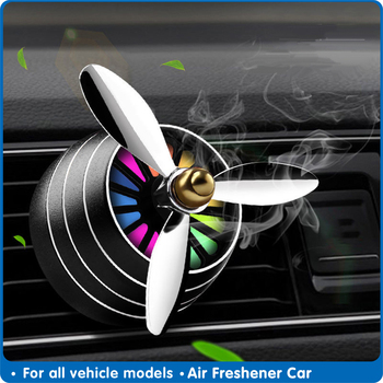 Air Freshener Car Smell LED Mini Conditioning Vent Outlet Perfume Clip Fresh Aromatherapy Fragrance Alloy Automobile Accessories image
