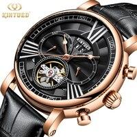 Kinyued militar relógio masculino automático tourbillon relógios mecânicos dos homens esqueleto relógio de pulso à prova dwaterproof água esportes horloges mannen