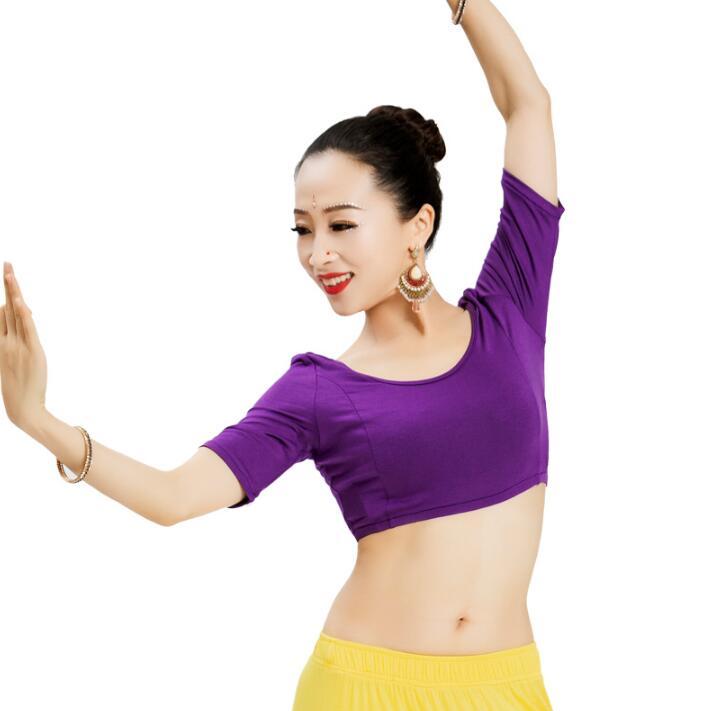 India Dance Blouse National Style Leisure Cotton Lehenga Woman Top
