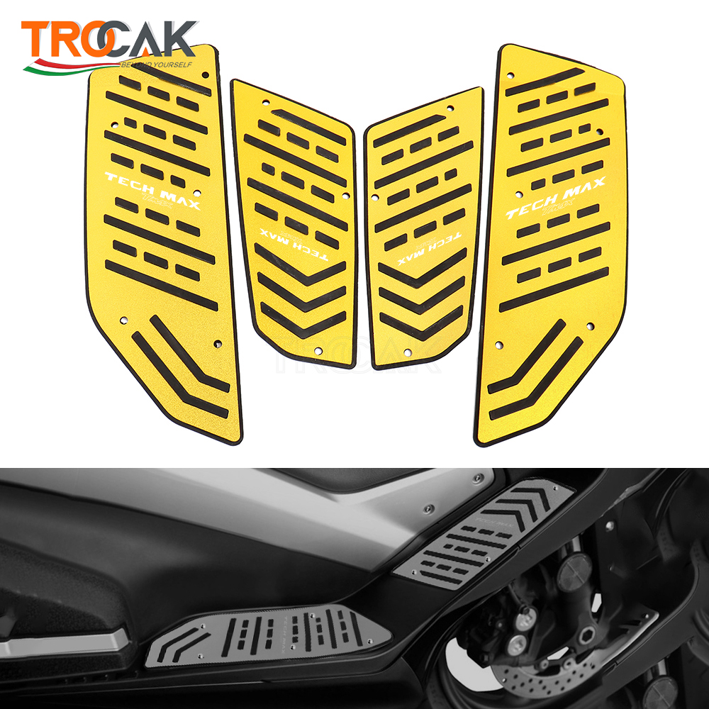 Motorcycle Footboard Steps Motorbike Foot For YAMAHA TMAX 560 tmax560 T-max Tech Max 2020 2021 Footrest Pegs Plate Pads