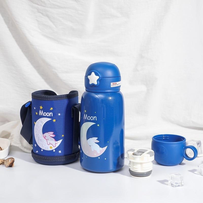 550ml copo de alimentacao do bebe garrafa termica de leite de aco inoxidavel para criancas isoladas
