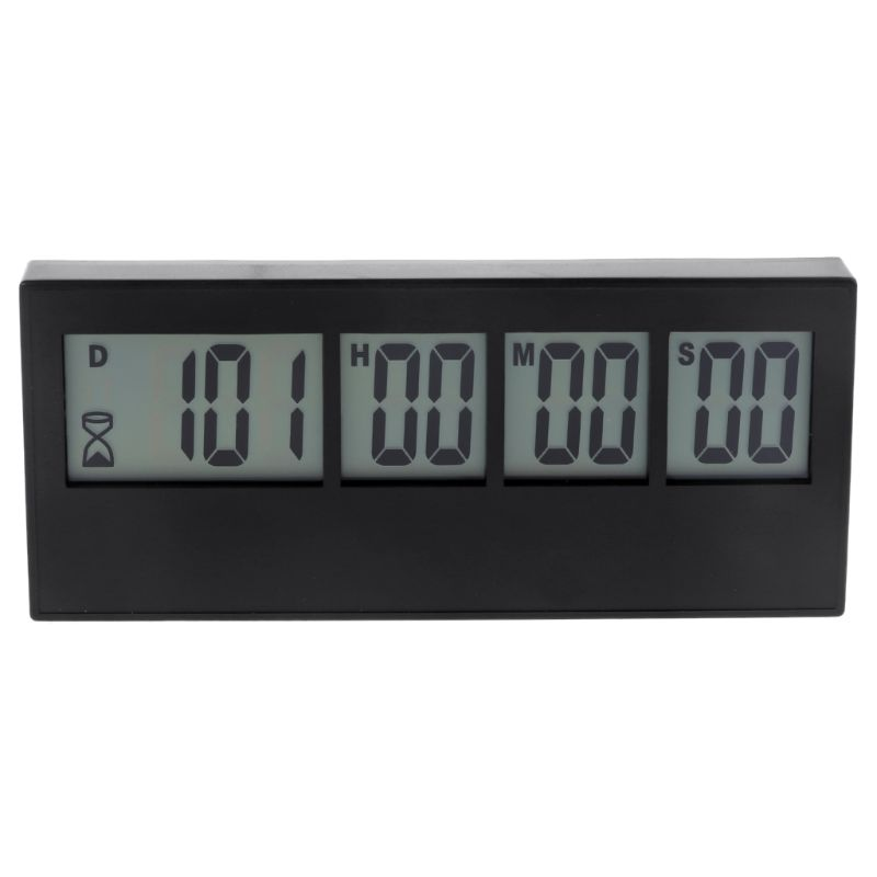 999 Days Countdown Clock LCD Digital Screen Kitchen Timer Event Reminder For Wedding Retirement Lab Cooking Kitchen Watering