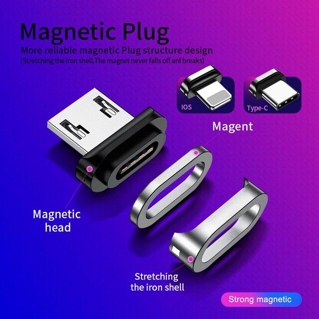 Câble magnétique Micro USB câble rapide 3A téléphone charge données Kabel pour Samsung S7 bord Redmi 6A 4X Android Microusb aimant chargeur
