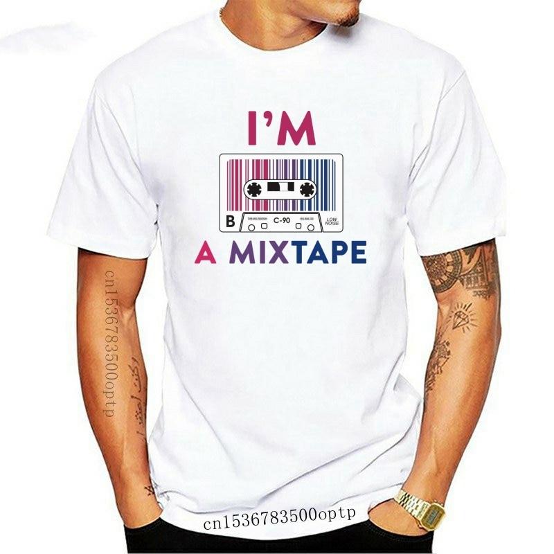 Summer funny print men tshirt women Im a Mixtape Bisexual T shirt