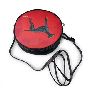 Image 3 - Greyhound omuzdan askili çanta Greyhound deri çanta Crossbody desen kadın çanta ince öğrenci kadınlar yuvarlak çanta