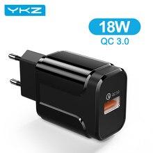 YKZ Quick Charge 3,0 18W QC 3,0 4,0 Schnelle ladegerät USB tragbare Lade Handy Ladegerät Für iPhone Samsung xiaomi Huawei