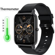 Gejian relógio inteligente das mulheres dos homens 1.69 Polegada rastreador de fitness tela sensível ao toque completo ip67 à prova dip67 água monitor freqüência cardíaca para ios android