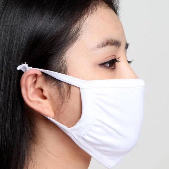 3Psc 1Psc Unisex Black Mask Soft Cotton Winter Breathing Mask Anti-Dust Earloop Mouth Face Cover Outdoor Riding