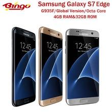 Samsung Galaxy S7 Rand G935F Ursprüngliche Globale Version Entsperrt LTE Android Handy 5.5