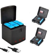 1720mah li ion batterie para gopro hero 9 caixa carregador de bateria ir pro hero9 preto AHDBT 901 acessório da câmera de armazenamento