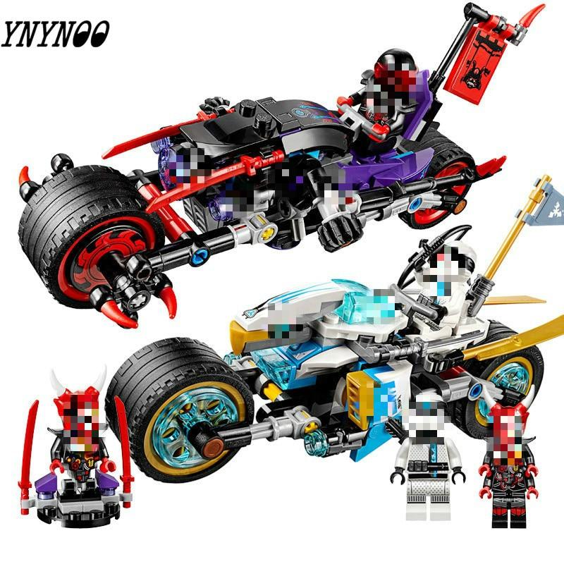 Lepining ninjagoing mailackers 06074 a rua corrida de cobra jaguar 308 peças blocos de construção brinquedos para crianças 70639