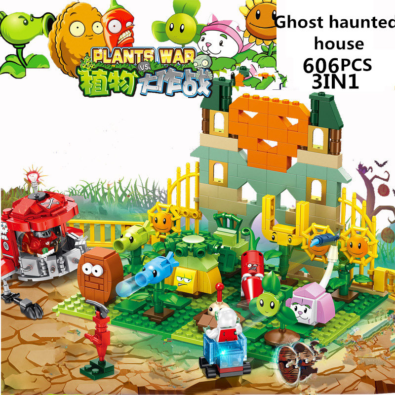 2020 New Plants Vs Zombies Struck Game Building Blocks Set Toys Compatible With Legoinglys Children Action Christmas Plastic