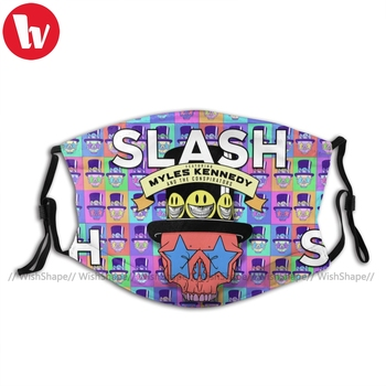 Slash Guns N Roses Mouth Face Mask Slash Living The Dream Facial Mask Cool for Adult with 2 Filters Mask виниловая пластинка slash living the dream