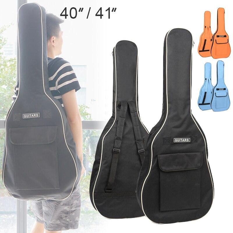 40/41 Polegada saco de guitarra 600d oxford tecido guitarra acústica show saco macio engrossar caso dupla alças ombro acolchoado guitarra