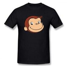 100% cotton Curious George Big Mouth print casual mens o-neck t shirts fashion Mens Basic Short Sleeve T-Shirt