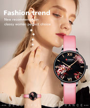 Curren New Creative Women Watches Beautiful Flower Quartz Ladies Bracelet Watches Waterproof Wristwatch Gift Relogio Feminino(China)