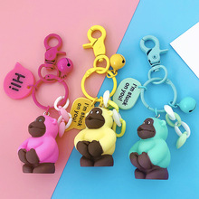 Creative African Gorilla Doll Keychain Student Bag Key Chain Decoration Manufacturers Direct Sales Of Keyring