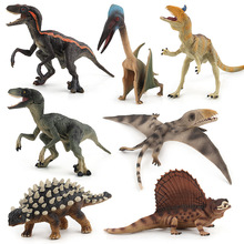 Single pin 12-18 cm simulation solid Jurassic dinosaur model toy raptor dragon pterosaur tooth dragon boy Christmas gift JM274
