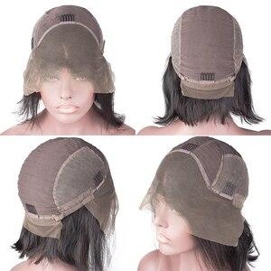 Image 5 - Kręcone peruka z krótkim bobem koronki przodu peruki z ludzkich włosów brazylijski prosto naturalne krótkie głębokie falowane włosy typu Remy wstępnie oskubane dla czarnych kobiet